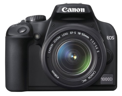 Canon EOS 1000D SLR-Digitalkamera (10 MP, LiveView, Kit inkl. EF-S 18-55 Objektiv)