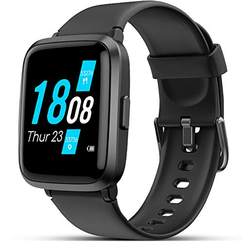 Smartwatch, LIFEBEE Fitness Armband mit Blutdruckmesser Pulsoximeter Blutsauerstoff-Monitor(SpO2) Sportuhr Fitnessuhr Schrittzähler IP68 Wasserdicht Pulsuhr Damen Herren Smart Watch für iOS Android