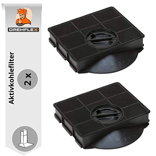DREHFLEX-2 filtro de carbón activo para diverso modelos de campana/AEG Electrolux 9029793602 o apto Bauknecht/Whirlpool 484000008581 o apto para Elica F00189/1/S -E3CFE303/Elica Type 303/fat303/amc895