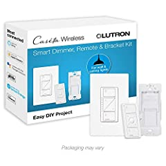 Includes (1) Caseta dimmer switch, (1) Pico 3-button dimming remote, and (1) Pico wall plate bracket; WALLPLATE NOT INCLUDED sold separately PEACE OF MIND: Set lights to automatically adjust with changing seasons so your family always comes back to a...