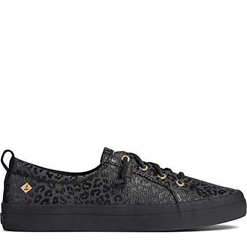 Sperry womens Crest Vibe Sneaker, Black/Black, 8.5 US