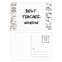 最高の先生は、学生を引用する宇宙 公式ポストカードセットサンクスカード郵送側20個