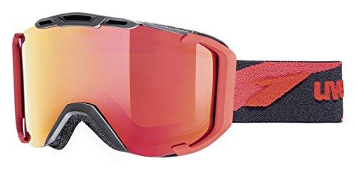UVEX Skibrille snowstrike LTM, Black/Red Mat, One Size
