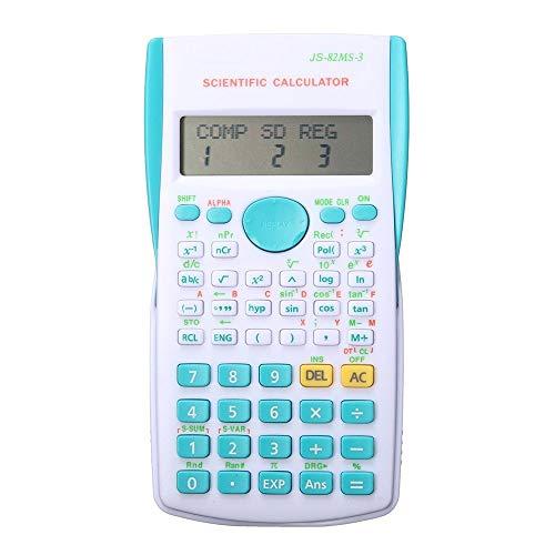 A/N Wissenschaftlicher Taschenrechner School Student-Funktion Rechner Scientific Calculator Multifunktionsrechner (Color : Blue, Size : One Size)
