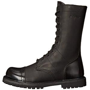 "Bates mens 11"" Paratrooper Side Zip Boot, Black, 10.5 US"