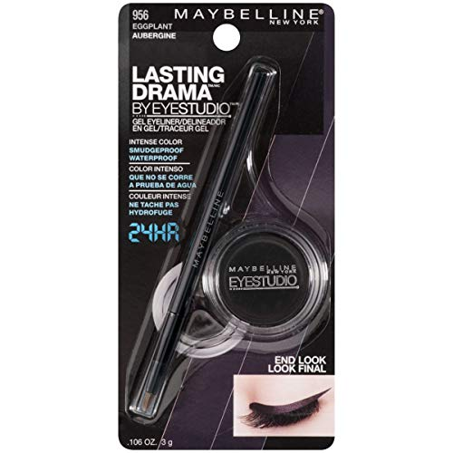 Maybelline New York Eye Studio Lasting Drama Gel Eyeliner, Eggplant [956], 0.106 Ounce
