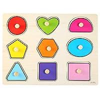 パズルボードおもちゃおかしい子供木製幾何学パズル子供早期学習教育ハンドグリップおもちゃ