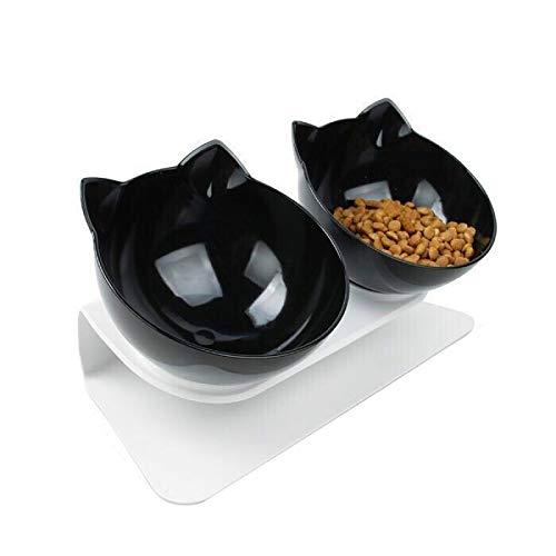 ZONJIE Cuencos para Mascotas Antideslizantes Cuencos Dobles Plato para Mascotas Elevado - Cuencos de Acero Inoxidable para Alimentos y Agua para Perros y Gatos pequeños a Grandes