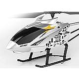 Pkfinrd Aleación súper Grande RC Helicóptero RC Avión con DIRIGIÓ Luces Descabo de un Solo Clic Entrega de baterías duales Regalos de cumpleaños Infantil de Juguete para niños (Color : Silver)