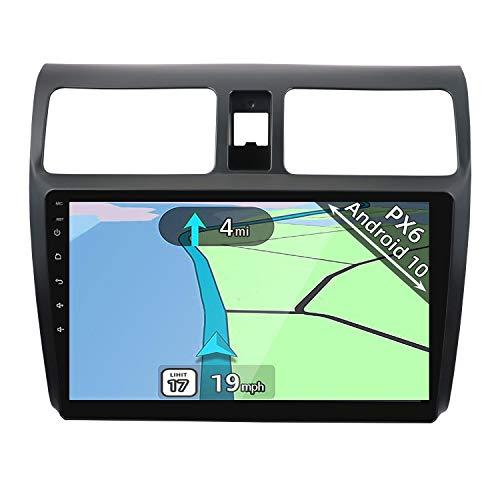 YUNTX PX6 Android 10 Autoradio Compatibile con Suzuki Swift (2005-2019) - [4G+64G] - GPS 2 Din - Telecamera Posteriore Gratuiti - Supporto DAB + / Controllo del volante/WiFi/Bluetooth/Mirrorlink