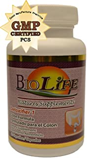 Super Colon Cleanse, Dietary Supplement, 30 Capsules, Detoxifier # 1 Colon Formula and Weight Loss 100% Natural by biolife