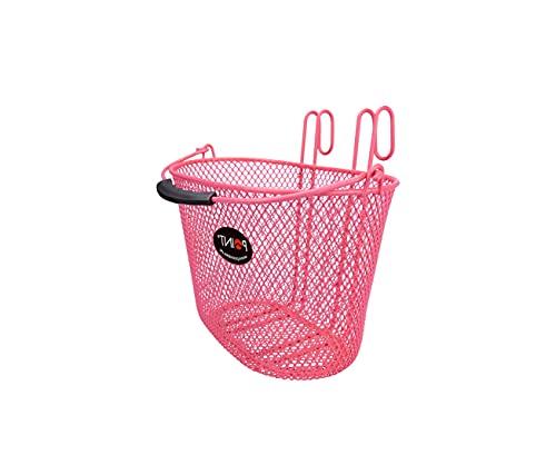 P4B Cesta de bicicleta moderna para niños, malla estrecha en 4 colores, cesta delantera para niños.