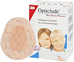 3M Boy's and Girl's Opticlude Orthoptic Coloured Junior Eye Patches (Mini Size) -Pack of 20