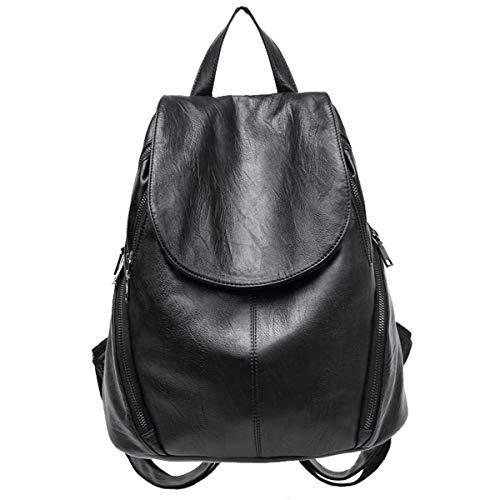 Monitika Bolsos mochila Mujer Moda Casual Viaje Escolares Mochilas Negro