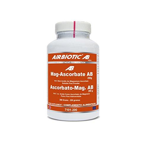 Airbiotic AB - Ascorbato de Magnesio AB 200 g. Vitaminas para el sistema inmunitario y frente la oxidación.