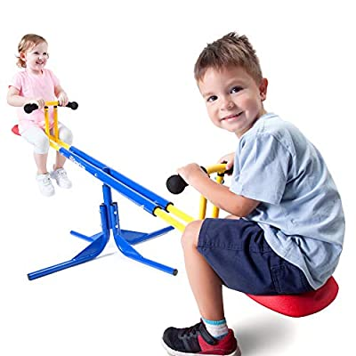 Grow'n Up Heracles Seesaw, 360 Degrees Rotation Teeter-Totter, Backyard Playground Outdoor seesaw, Sturdy & Durable outdoor play by Grow'n Up