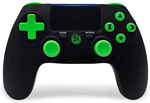 PS4 Controller Wireless für PlayStation 4 Controller Dual Shock Controller für PlayStation 4/ Pro/ Slim mit Bluetooth, Sechs Achsen Gamepads Joystick (schwarz)