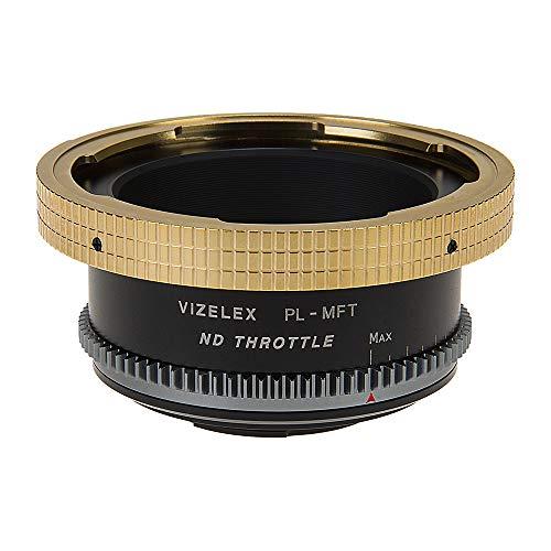 Vizelex ND - Adaptador de montura de lente del acelerador - Arri PL (bloqueo positivo) para montura de lente a Micro Cuatro Tercios (MFT, M4/3) (1 a 8 paradas)