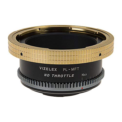 Vizelex ND Throttle Lens Mount Adapter - Arri PL (Positive Lock) Mount Lens to Micro Four Thirds (MFT, M4/3) Mount Mirrorless Camera Body with Built-in Variable ND Filter (1 to 8 Stops)