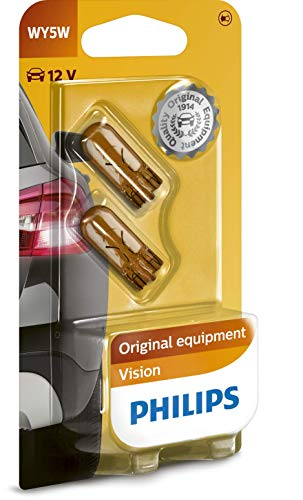 Philips automotive lighting 12396NAB2 Glassockellampe Vision WY5W, White, 13.50x9.50x13.50