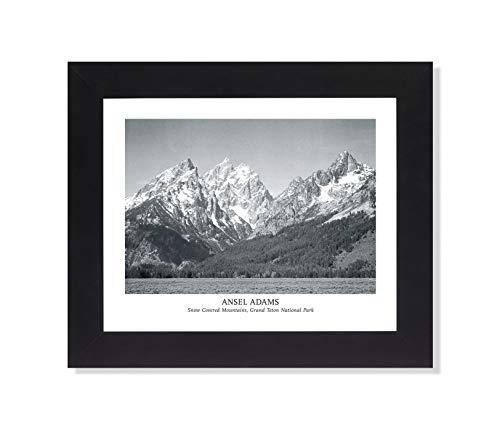 Ansel Adams Snow Teton B W Photo Wall Picture Black Framed Art Print 8x10