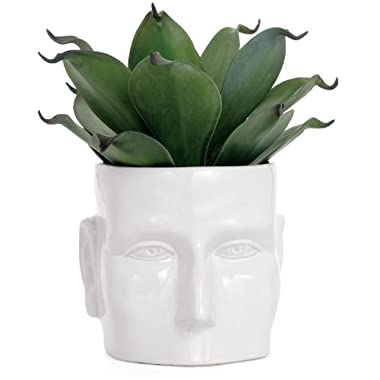 Torre & Tagus 900364 Face Vase, Large, White