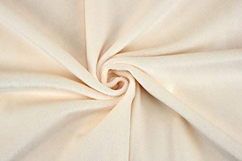 Tessuto di peluche in microfibra, linea: SHORTY, a metraggio, colore: beige, lunghezza del pelo: 1,5mm, certificazione EN71-3 e EN 71-9 color carne