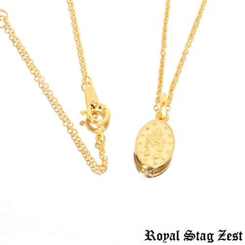 #土日祝出荷OK#RoyalStagZest#ロイヤルスタッグゼスト#マリア#メダイ#奇跡の恵み#ネックレス#ゴールド#K23#ダイヤモンドSN26-013-014