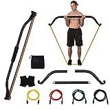 UBaymax Entrenador de Tensión de Arco,Entrenamiento de Resistencia Fitness con Tres Paradas,Multifungal Accesorios de Muscular Gimnasio Portátil,Kit Físico Ejercicio de Fuerza para Hombres Mujeres