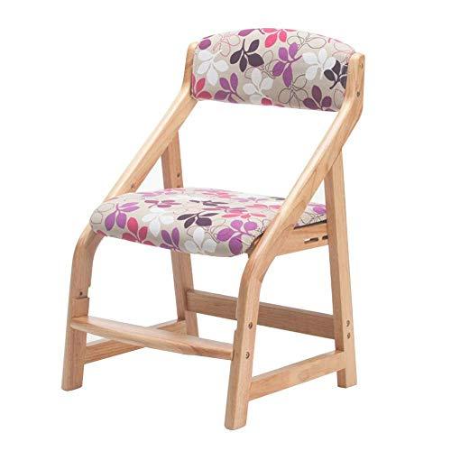 ZCXBHD werkstoel voor kinderzitje van massief hout, corrigerende zithouding, anti-myopie, gesp, in hoogte verstelbaar, D