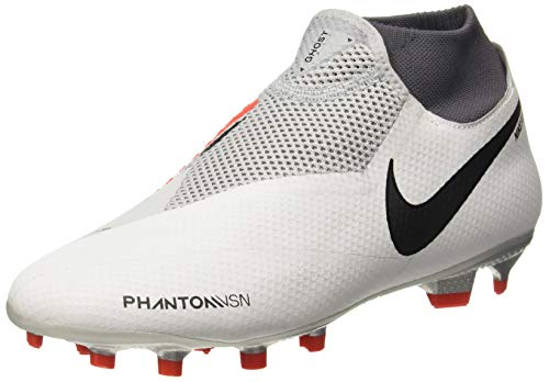 Nike Mens Phantom VSN PRO DF FG Soccer Cleats (Grey, Numeric_8_Point_5)