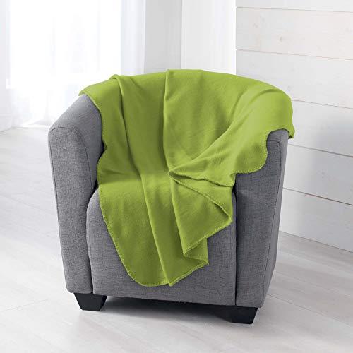 douceur d'intérieur Milou PLAID, Polyester, Olive, 125 x 150 CM