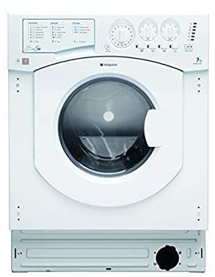 Hotpoint BHWD149/1 Built-in Front Load B White Washing Machine with Tumble Dryer - Washing Machines with Tumble Dryer (Front, Built-in, White, Left, Buttons, Rotating, LCD)