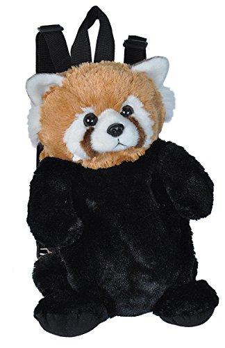 Wild Republic 21091 rode Panda pluche dier, knuffeldier, rugzak, stofdier, 36 cm, Multi