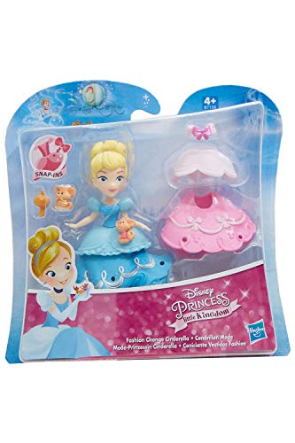 Disney Little Kingdom Mode-Prinzessinnen mit Kleidern und Accessoires, Spielfiguren-Set für Kinder zum Spielen und sammeln (Cinderella)