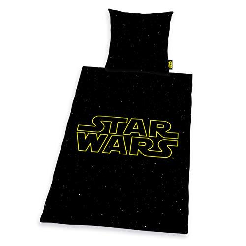 Herding Star Wars - Juego de Ropa de Cama (Funda de edredón de 155 x 220 cm, Funda de Almohada de 80 x 80 cm, algodón)