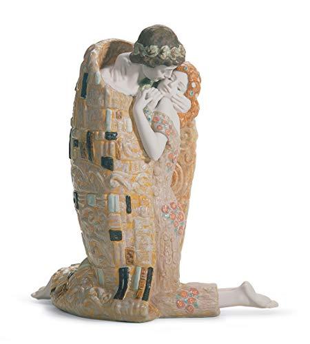 LLADRÓ Scultura Coppia Il Bacio. Sposi (Matrimonio) di Porcellana.