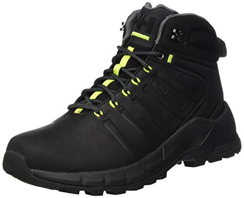Helly-Hansen Men's Pinecliff Boot Hiking Boot, 990 Black/Charcoal/Azid Lime, 9.5