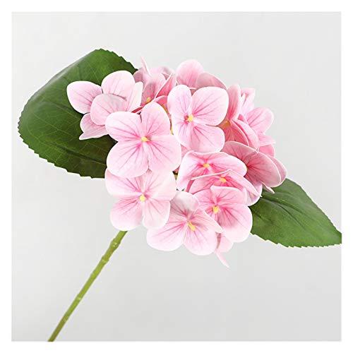 HAIJUNSM Künstliche Blumen Luxus-3D-Druck-Hortensie-Zweig mit grünen Blättern echte Berührung künstliche Blumen Home Table Office Hochzeitsdekoration Flores (Color : A)