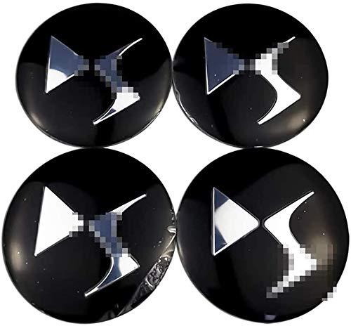 LHSEX Coche 4Pcs 56mm, Tapas de Cubo de Rueda Emblema 3D Tapas centrales de Cubo de Aluminio con Pegatinas de Logotipo Accesorios de Coche, para Citroen Picasso C3 Berlingo