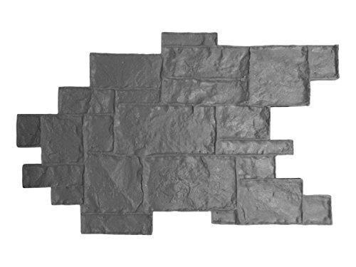 Walttools Medievil Cobble Concrete Stamp Singles Decorative Random Cobblestone Pattern, Sturdy Polyurethane, Flexible Texturing Mat, Realistic Detail (Floppy)