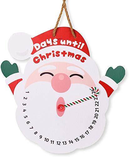 Joyjoz Hängen Weihnachtsmann Adventskalender für Weihnachten, Feiertage, Outdoor Indoor Weihnachtsdekoration, Tage bis Weihnachten Countdown