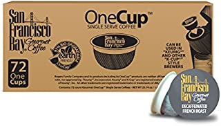San Francisco Bay OneCup, Decaf French Roast, 72 Single Serve Coffees
