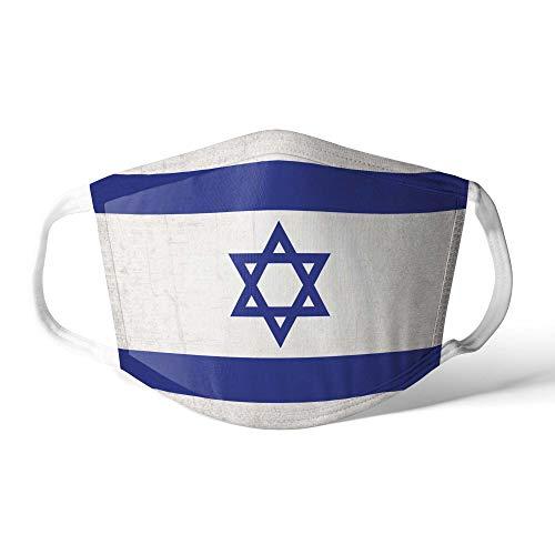 Mundschutz Maske Stoffmaske Mittel Asien Flagge Israel/Israelisch Wiederverwendbar Waschbar Weiches Baumwollgefühl Polyester Fabrik