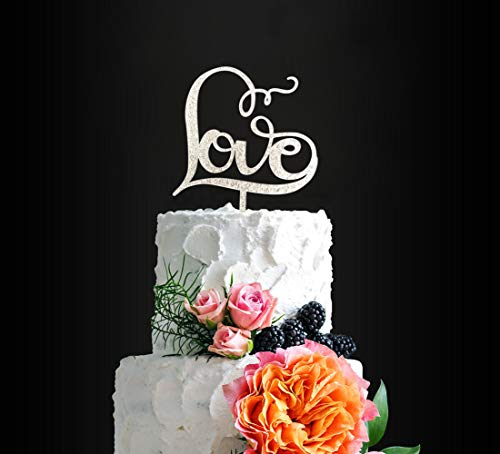 Gorgeous LOVE Cake Topper, Good for a Wedding/ Bridal Shower/ Engagement Party, Anniversary Cake Topper