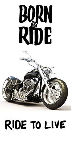 Theonoi handdoek kinderen badhanddoek badhanddoek strandlaken - katoen motorfiets bike leuke schop x 140 cm