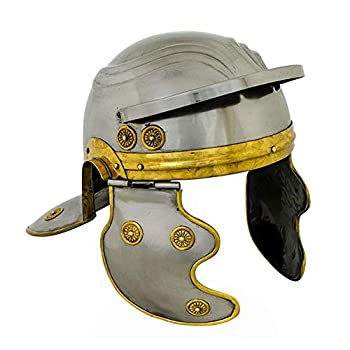 AnNafi Roman Centurion Officer Display Helmet | Wearable Armor Historical Centurian 18g with Free Stand