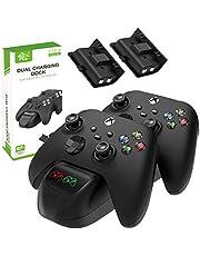 XINGXINGFAN Dual Controller Charger Station Compatible with Xbox Series S/X Caricatore del Controller Dock USB Kit Caricabatterie per Controller di Gioco ad Alta Velocità 2 Slot per Xbox