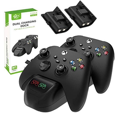 Dual Controller Charger Station Compatible with Xbox Series S/X Controller Ladestation USB 2 Steckplatz Hochgeschwindigkeits Ladegerät Controller Kit für Xbox