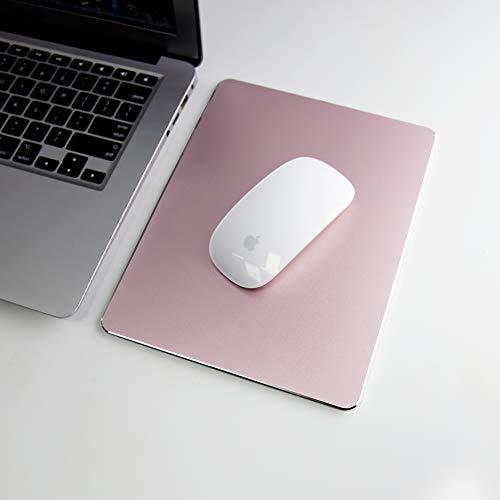 Hard Rose Gold Metal Aluminum Mouse Pad Mat Smooth Magic Ultra Thin...